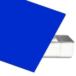 Blue Acrylic Sheet for At Home Laser Cutter CNC Router