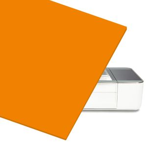 Orange Acrylic Sheet for At Home Laser Cutter CNC Router