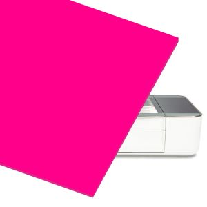 Pink Acrylic Sheet for At Home Laser Cutter CNC Router