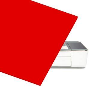 Red Acrylic Sheet for At Home Laser Cutter CNC Router