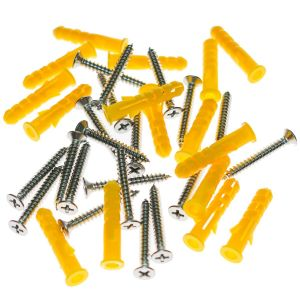 Plastic Anchor with Screws (20-Pieces)